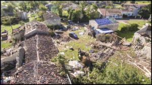 Photo presse et assurance, tornade de Sonnac (17)